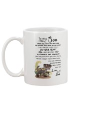 Make it the meaningful message to your son Mug back