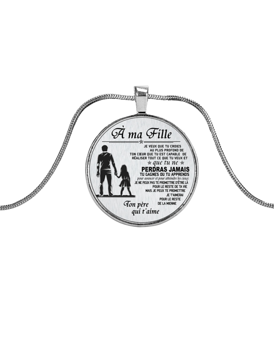 Make it the meaningful message to your daughter Metallic Circle Necklace