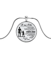 Make it the meaningful message to your daughter Metallic Circle Necklace front
