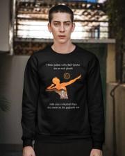 volleyball mug -to dad-volleyball player Crewneck Sweatshirt apparel-crewneck-sweatshirt-lifestyle-02