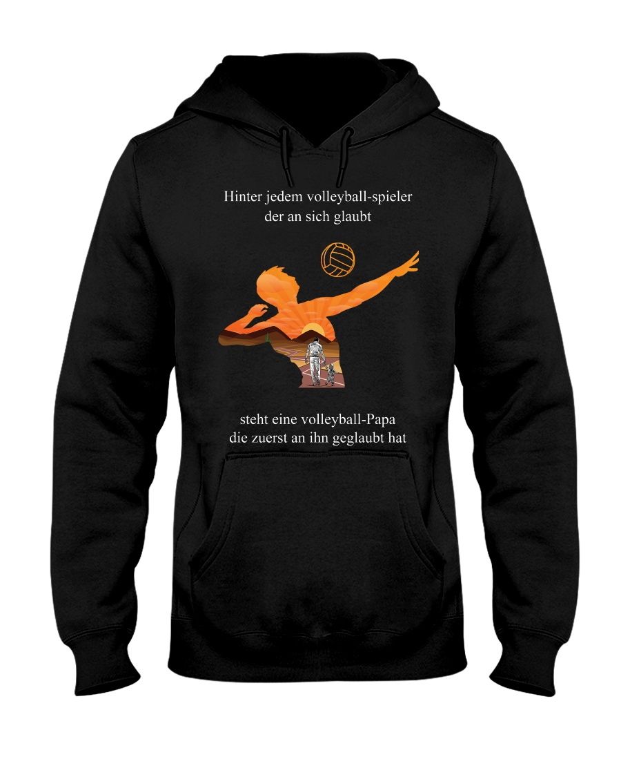 volleyball mug -to dad-volleyball player Hooded Sweatshirt