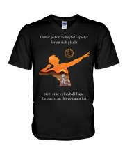 volleyball mug -to dad-volleyball player V-Neck T-Shirt front