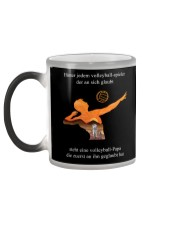 volleyball mug -to dad-volleyball player Color Changing Mug color-changing-left