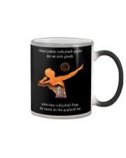 volleyball mug -to dad-volleyball player Color Changing Mug tile