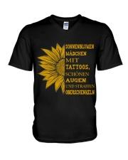sunflower mug - to girl with tatoos V-Neck T-Shirt thumbnail
