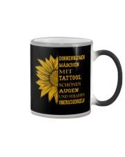 sunflower mug - to girl with tatoos Color Changing Mug thumbnail