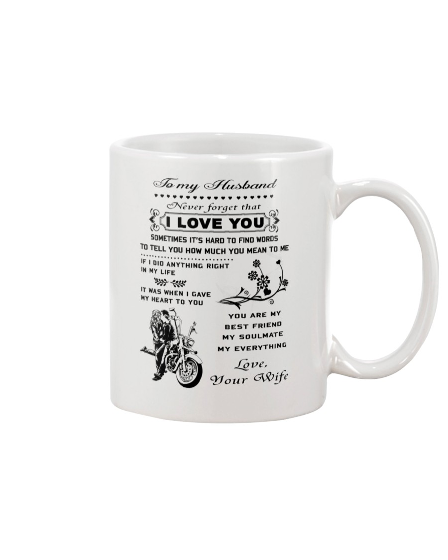 Biker mug - To my husband - I love you  Mug