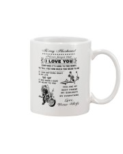 Biker mug - To my husband - I love you  Mug front