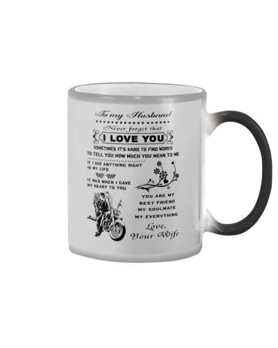 Biker mug - To my husband - I love you