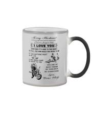 Biker mug - To my husband - I love you  Color Changing Mug color-changing-right