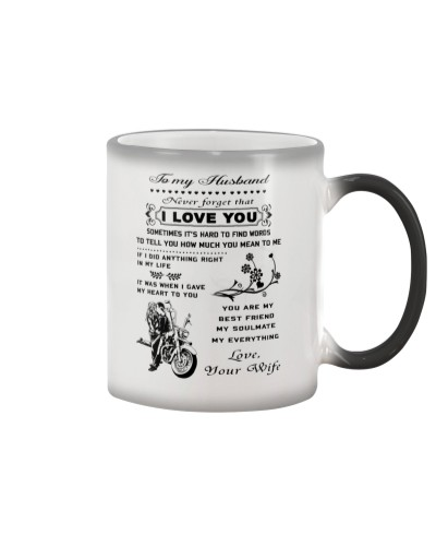 Biker mug - To my husband - I love you