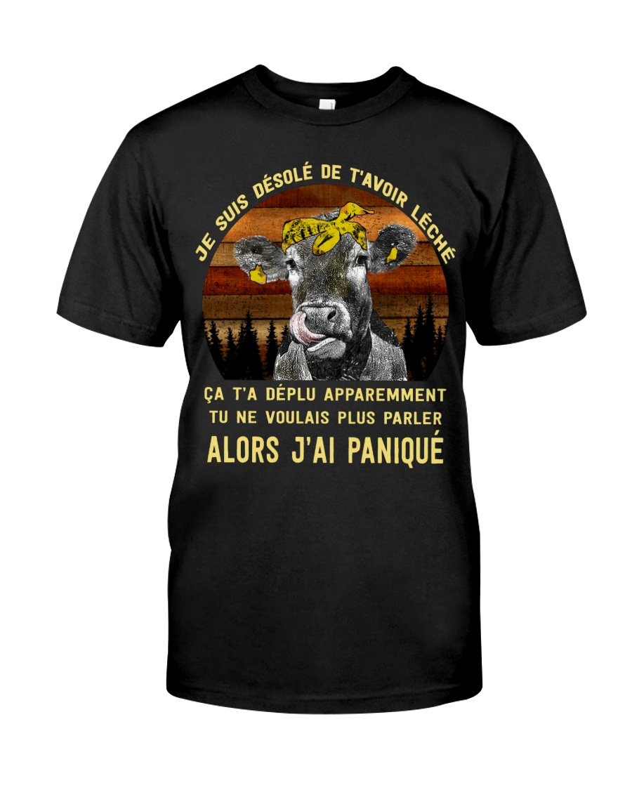 cow T-shirt - I'm sorry I licked you french vs Premium Fit Mens Tee