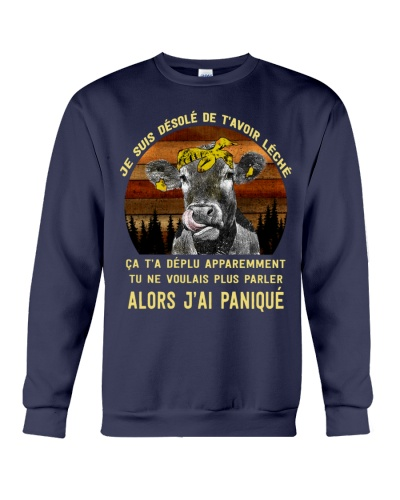 cow T-shirt - I'm sorry I licked you french vs
