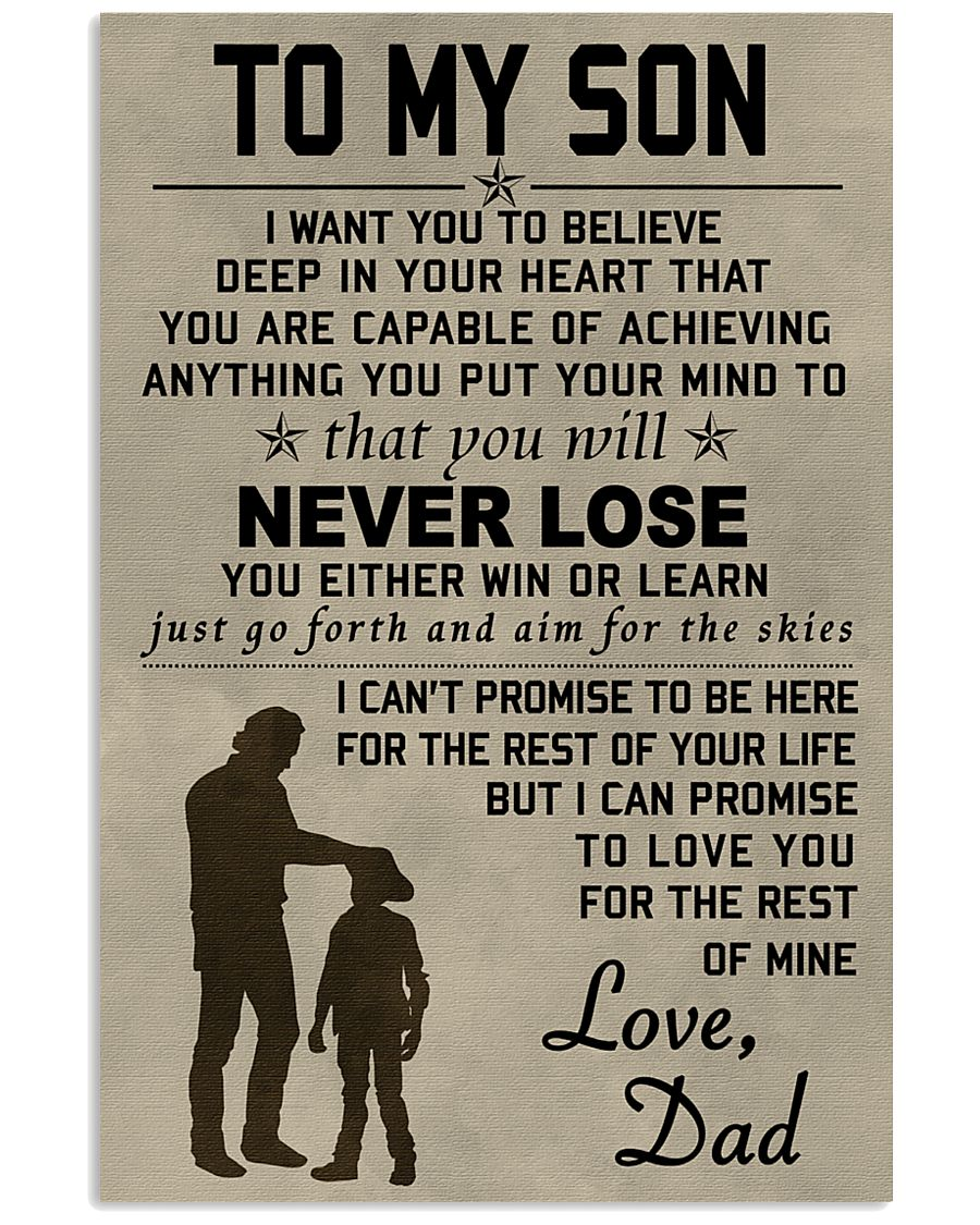 To My Son 11x17 Poster