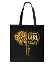 Sunflower girl Tote Bag thumbnail