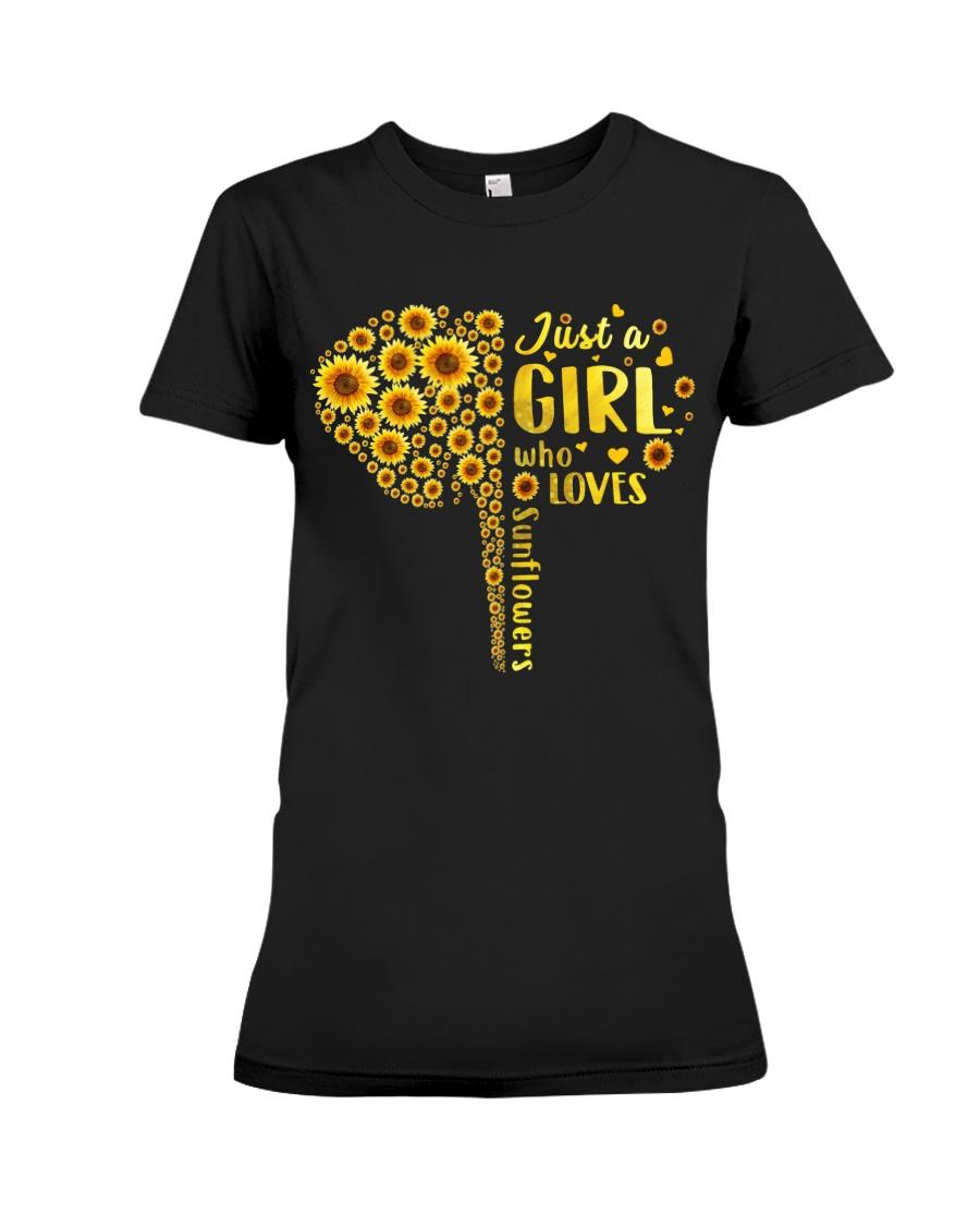 Sunflower girl Premium Fit Ladies Tee