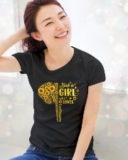 Sunflower girl Premium Fit Ladies Tee lifestyle-holiday-womenscrewneck-front-1