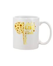 Sunflower girl Mug thumbnail