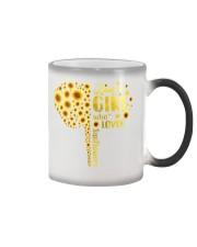 Sunflower girl Color Changing Mug thumbnail