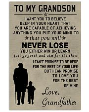 Make it the meaningful message to your grandson 11x17 Poster front