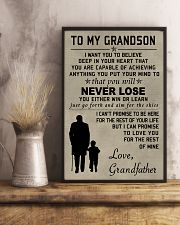 Make it the meaningful message to your grandson 11x17 Poster lifestyle-poster-3