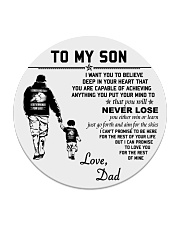 Make it the meaningful message to your son Circle Coaster thumbnail