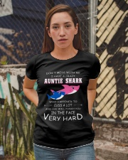 shark T-shirt - Don't mess with me Ladies T-Shirt apparel-ladies-t-shirt-lifestyle-03