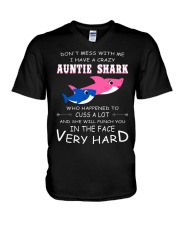 shark T-shirt - Don't mess with me V-Neck T-Shirt thumbnail