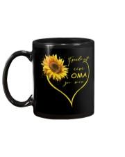 sunflower mug - being a Nana german vs Mug back