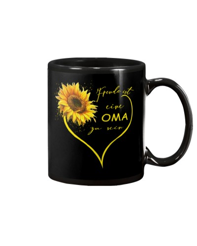 sunflower mug - being a Nana german vs