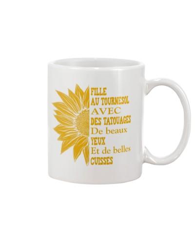 sunflower mug - to girl with tatoos