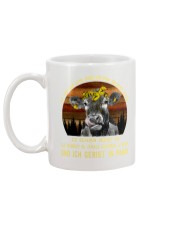 cow mug - I'm sorry I licked you german vs Mug back