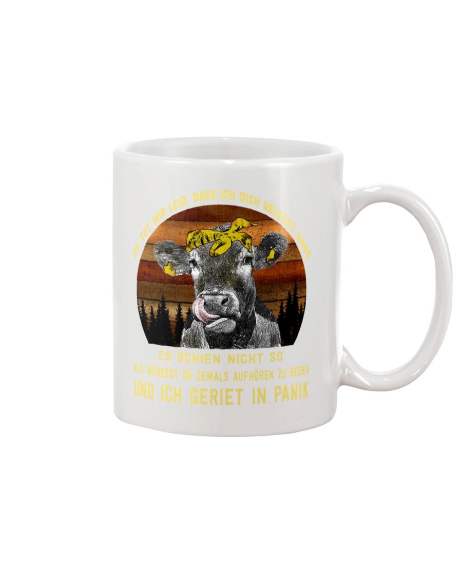 cow mug - I'm sorry I licked you german vs Mug