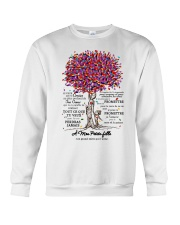 family T-shirt - to granddaughter - never lose  Crewneck Sweatshirt thumbnail