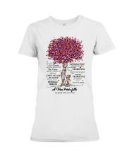 family T-shirt - to granddaughter - never lose  Premium Fit Ladies Tee thumbnail