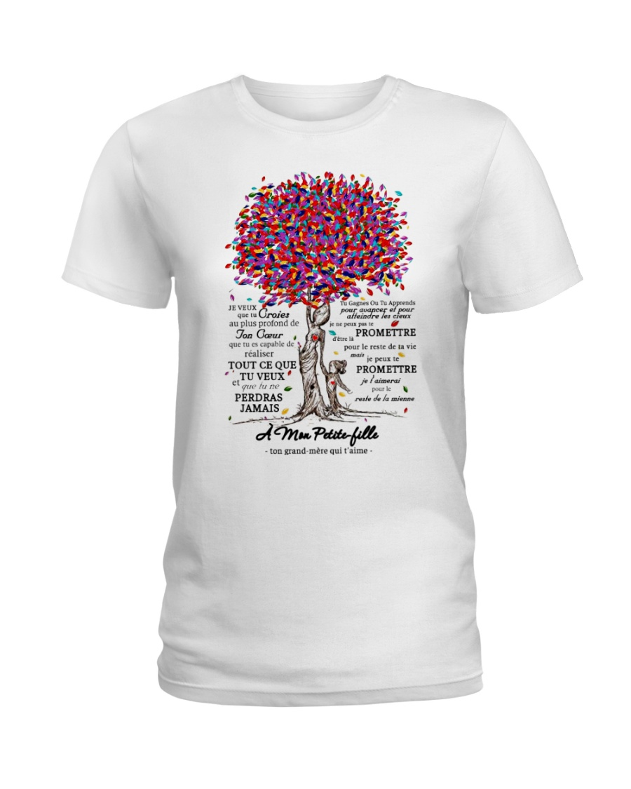 family T-shirt - to granddaughter - never lose  Ladies T-Shirt