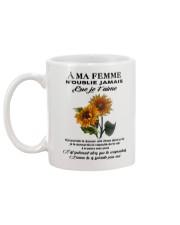 sunflower mug - to wife - never forget that Mug back