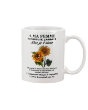 sunflower mug - to wife - never forget that Mug front