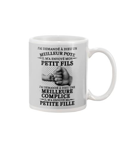 family mug - I asked God French vs