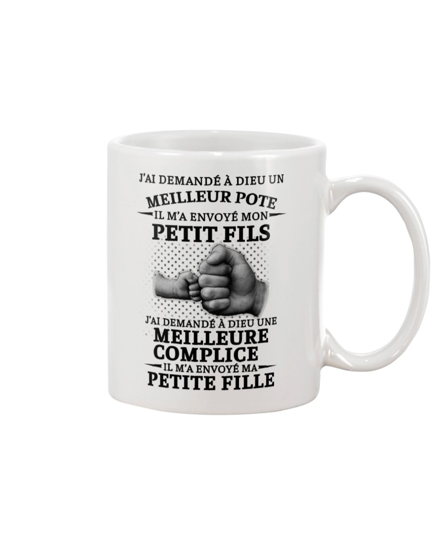 family mug - I asked God French vs Mug