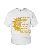 sunflower mug - to girl with tatoos Youth T-Shirt thumbnail