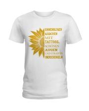 sunflower mug - to girl with tatoos Ladies T-Shirt thumbnail
