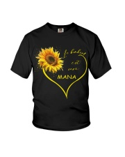 sunflower T-shirt - being a Nana french vs Youth T-Shirt thumbnail