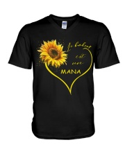 sunflower T-shirt - being a Nana french vs V-Neck T-Shirt thumbnail