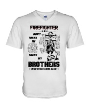 Firefighter Brother V-Neck T-Shirt thumbnail