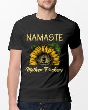 sunflower T-shirt - yoga Namaste Classic T-Shirt lifestyle-mens-crewneck-front-13