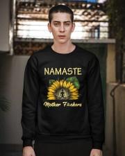 sunflower T-shirt - yoga Namaste Crewneck Sweatshirt apparel-crewneck-sweatshirt-lifestyle-02
