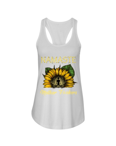 sunflower T-shirt - yoga Namaste