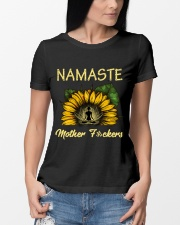sunflower T-shirt - yoga Namaste Premium Fit Ladies Tee lifestyle-women-crewneck-front-10