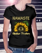 sunflower T-shirt - yoga Namaste Premium Fit Ladies Tee lifestyle-women-crewneck-front-7